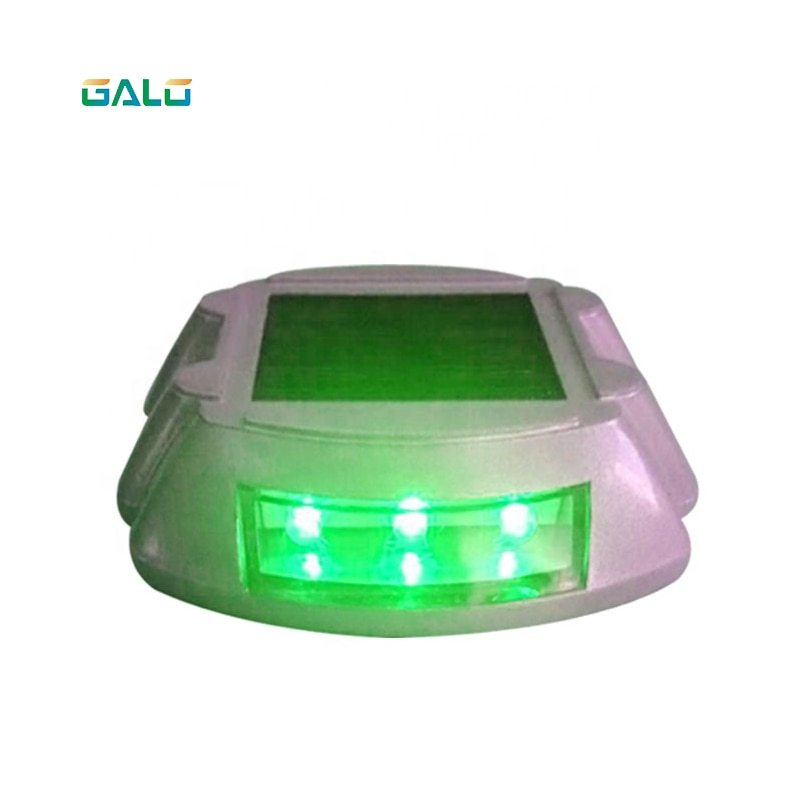 Luz de tráfico led solar de herradura de aluminio coloreada
