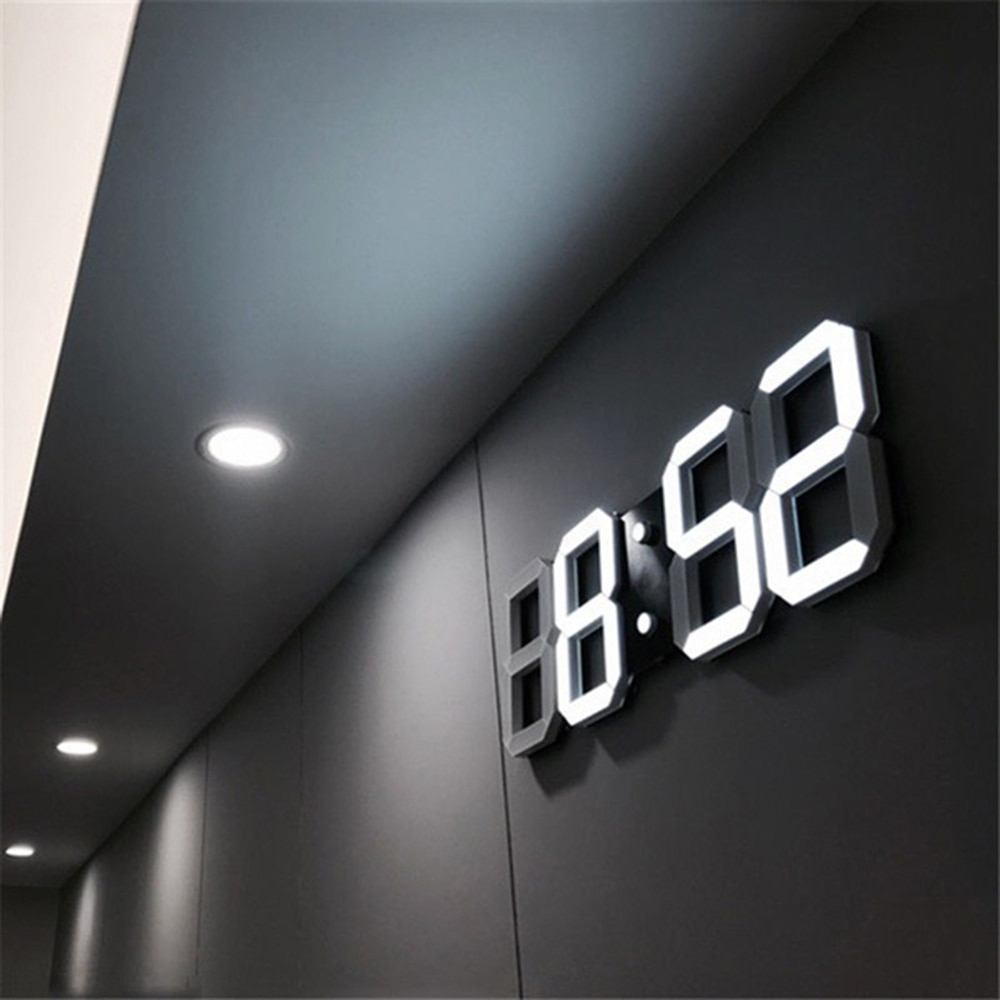 Horloge murale numérique 3D   Grande Date, Celsius, Table daffichage, horloge de bureau, alarme de salon D30