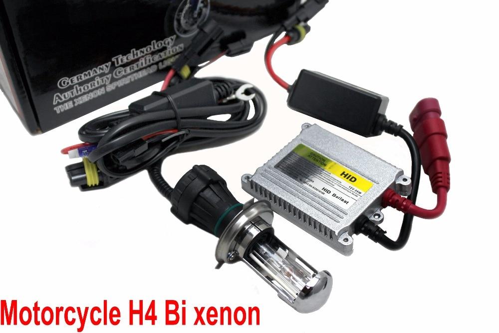 Бесплатная доставка мотоцикл ксенон H4 розетка высокий низкий свет HID 12V 35W Тонкий Балласт набор «би-ксенон» 4300K 5000K 6000K 8000K 10000K