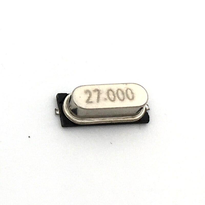 20 pces smd hc-49s 27.000mhz 27mhz 20ppm 20pf cristal do ressonador de quartzo