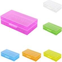 18650/CR123A/17670/18350 en plastique dur Transparent boîtier de batterie support de la boîte organisateur de stockage
