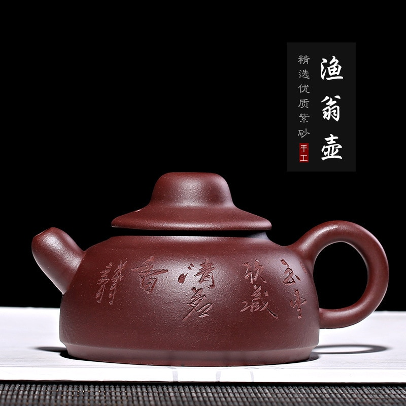 Atacado recomendado agente minério argila roxa pura artesanal pescador pote de chá personalizado fabricantes vendendo caixa de presente