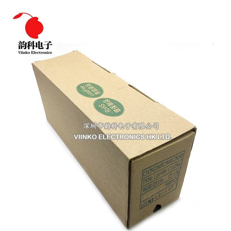 5000 Uds 1k ohmios 1/4W 1k resistencia de película metálica 1kohm 0,25 W 1% ROHS