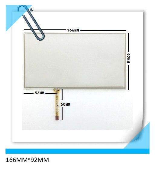 Новая 7-дюймовая 4-проводная сенсорная ЖК-панель с сенсорным экраном, 166х92 мм, TM070RDH01 C070VW03 V0, 6,95 дюйма