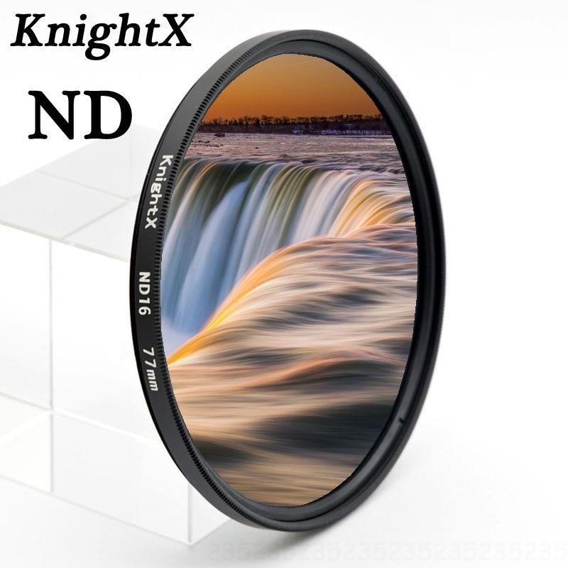 KnightX-filtro de 16 colores para nikon, kit de lentes sigma para obiektyw d5200, macro, objektiv 49, 52, 55, 58, 67, 77, ND ND8