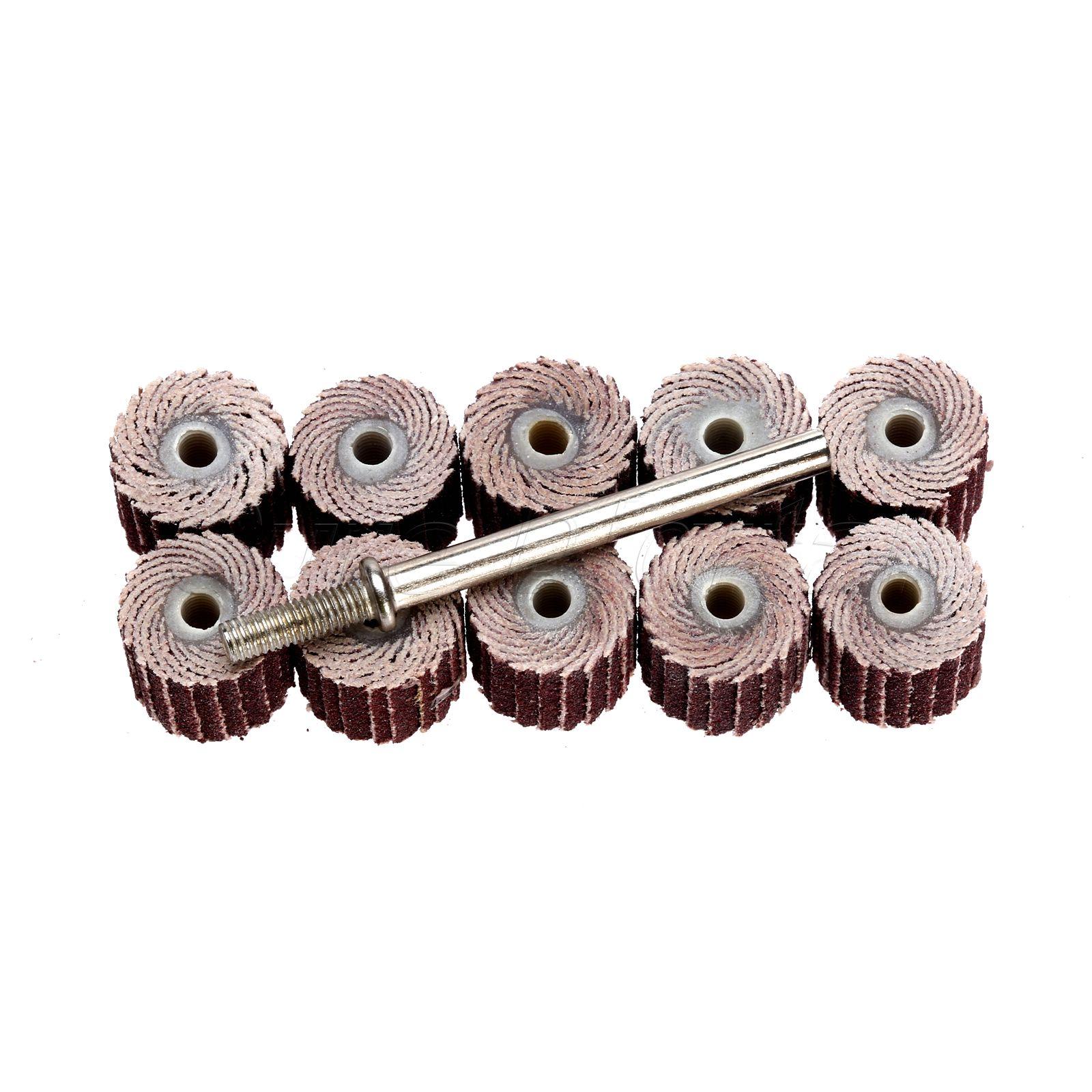 10 piezas Dremel accesorios 240-grano lijado disco de solapa lijado - Herramientas abrasivas - foto 3