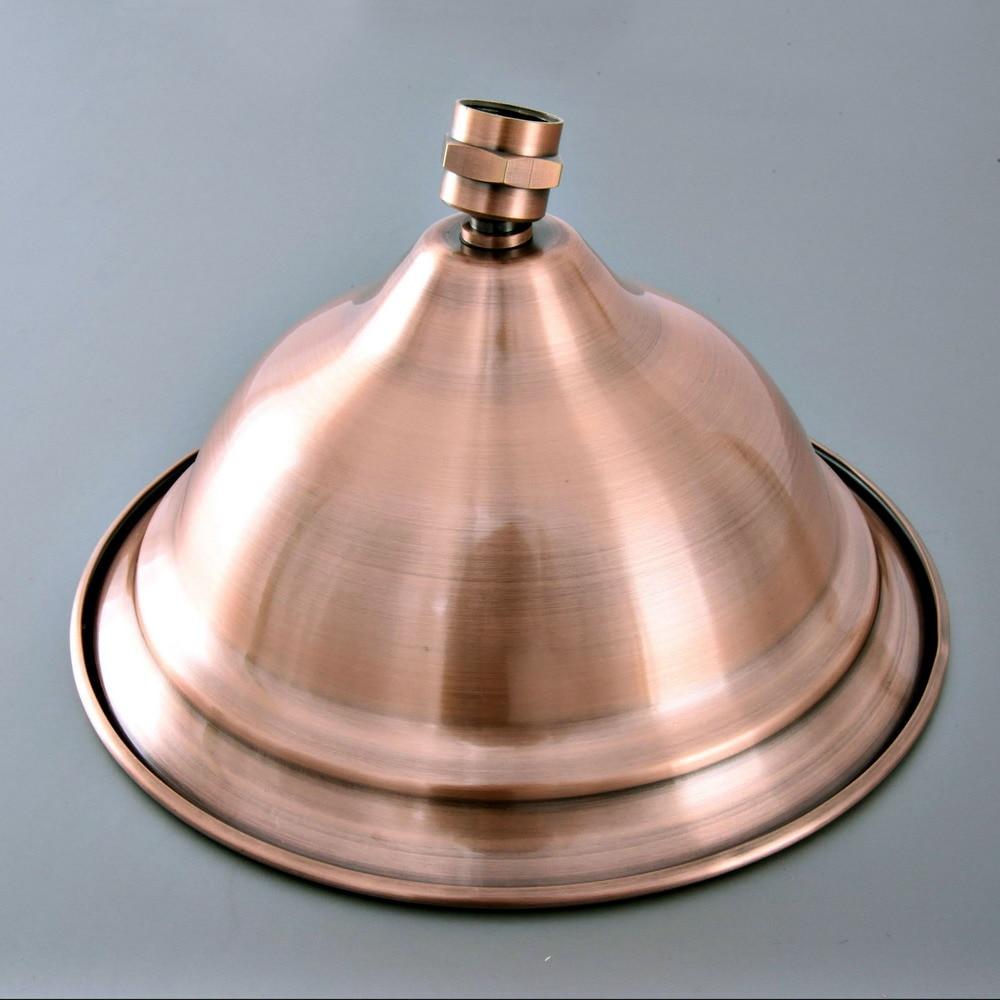 ملحق حمام نحاسي أحمر عتيق مقاس 8.2 بوصة ، توفير مياه دائري ، رأس دش مطري ، تركيب حمام ash263