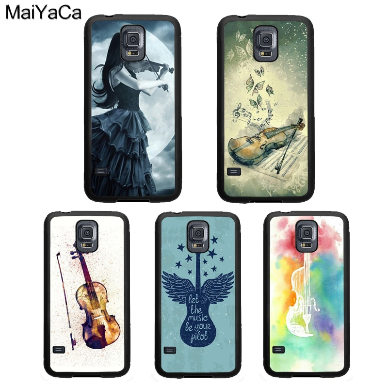 Gothic Girl Violin Watercolor Case For Samsung Galaxy A51 A71 A50 A70 A10 A30S A40 Note 10 S8 S9 S20 Ultra S10 Plus S10e
