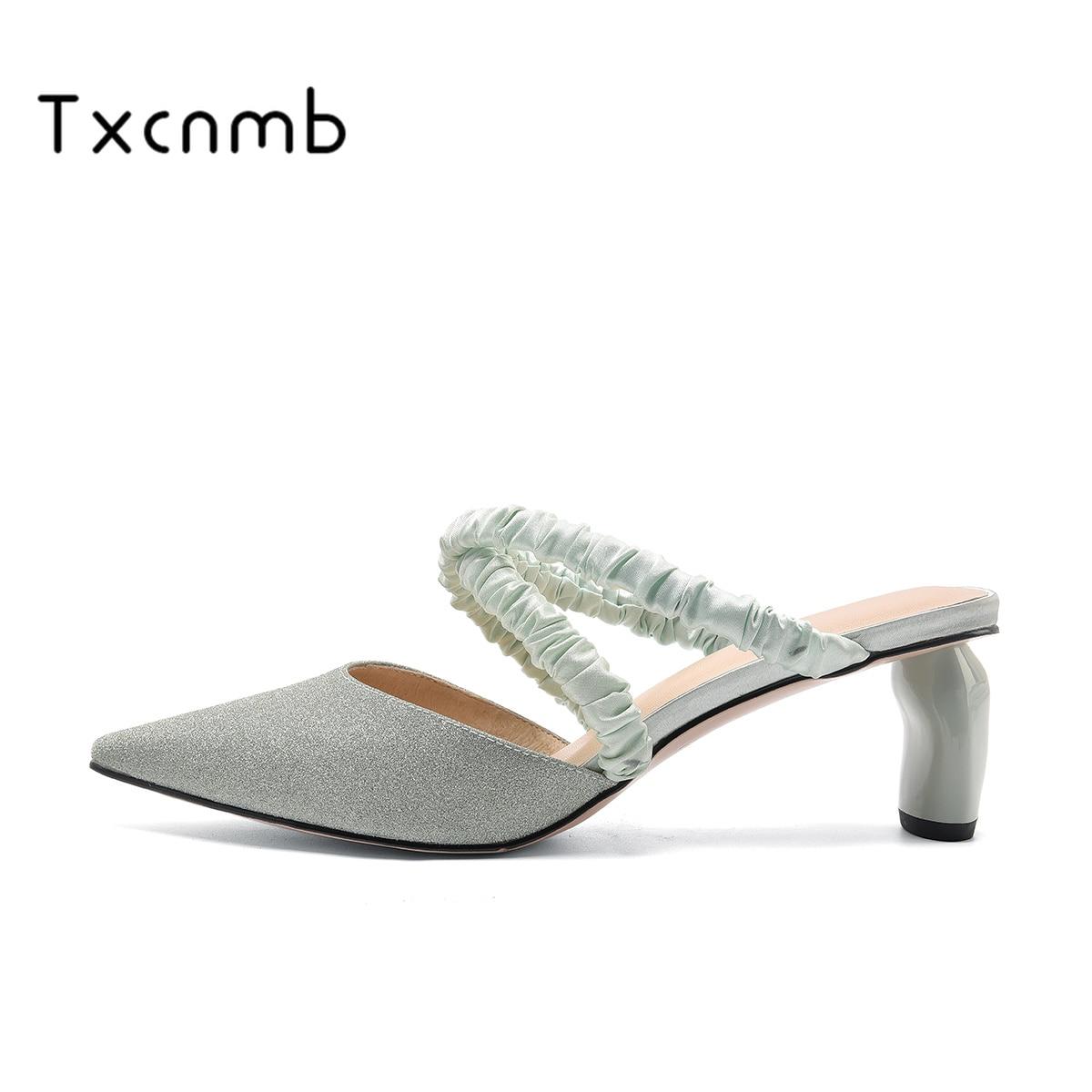 TXCNMB zapatos mujer 2020 moda Punk mujeres sandalias novedad de verano tacones altos zapatos para Club nocturno mujer clásica sólida estrecha banda zapatos