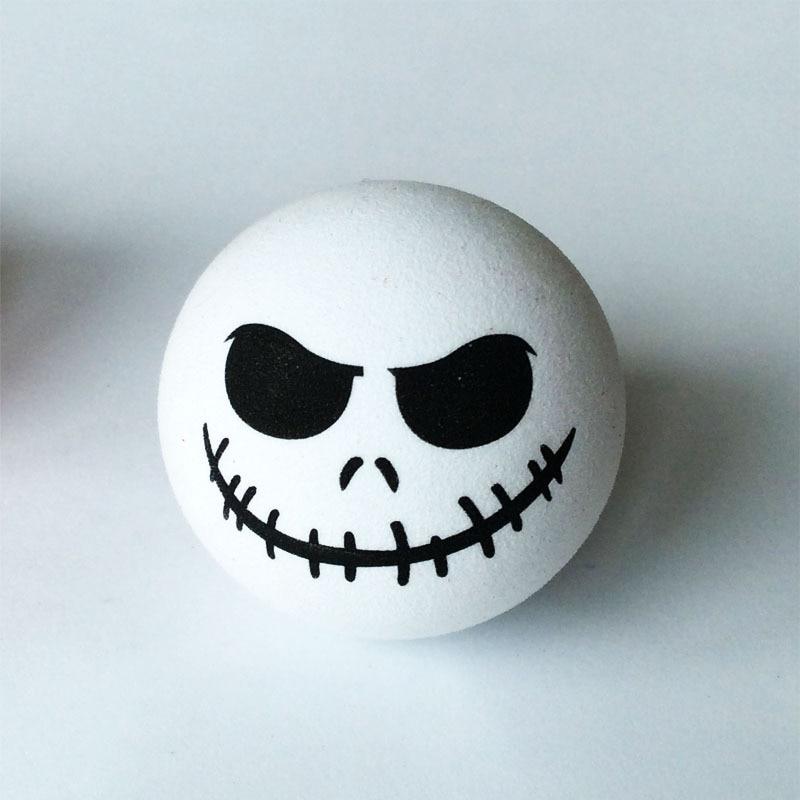 Страшный круглый демон череп голова патч нить рот восхитительный мультфильм кукла антенна шары воздушные шары украшение автомобиля украше...