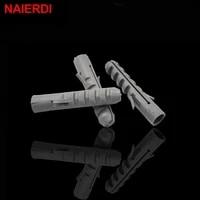 50pcs naierdi 5 8mm screws m5 m8 rubber expansion pipe flat round head self tapping screw nylon tube wall wood hardware tool