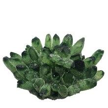 Green Ghost Phantom Quartz Crystal Cluster Natural Quartz Minerals Stone Home Or Wedding Decoration