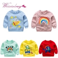 toddler boys girls cartoon sweatshirts for spring autumn kids clothes baby long sleeve outfit tracksuit kids outerwear costume