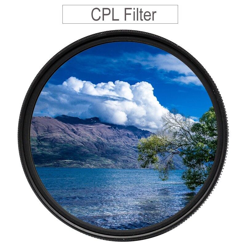 מסנן CPL 37 43 46 40.5 49 52 55 58 62mm 67mm 72mm 77mm 82 מעגלי מקטב קיטוב מסנן עבור Canon ניקון Sony Fujifilm