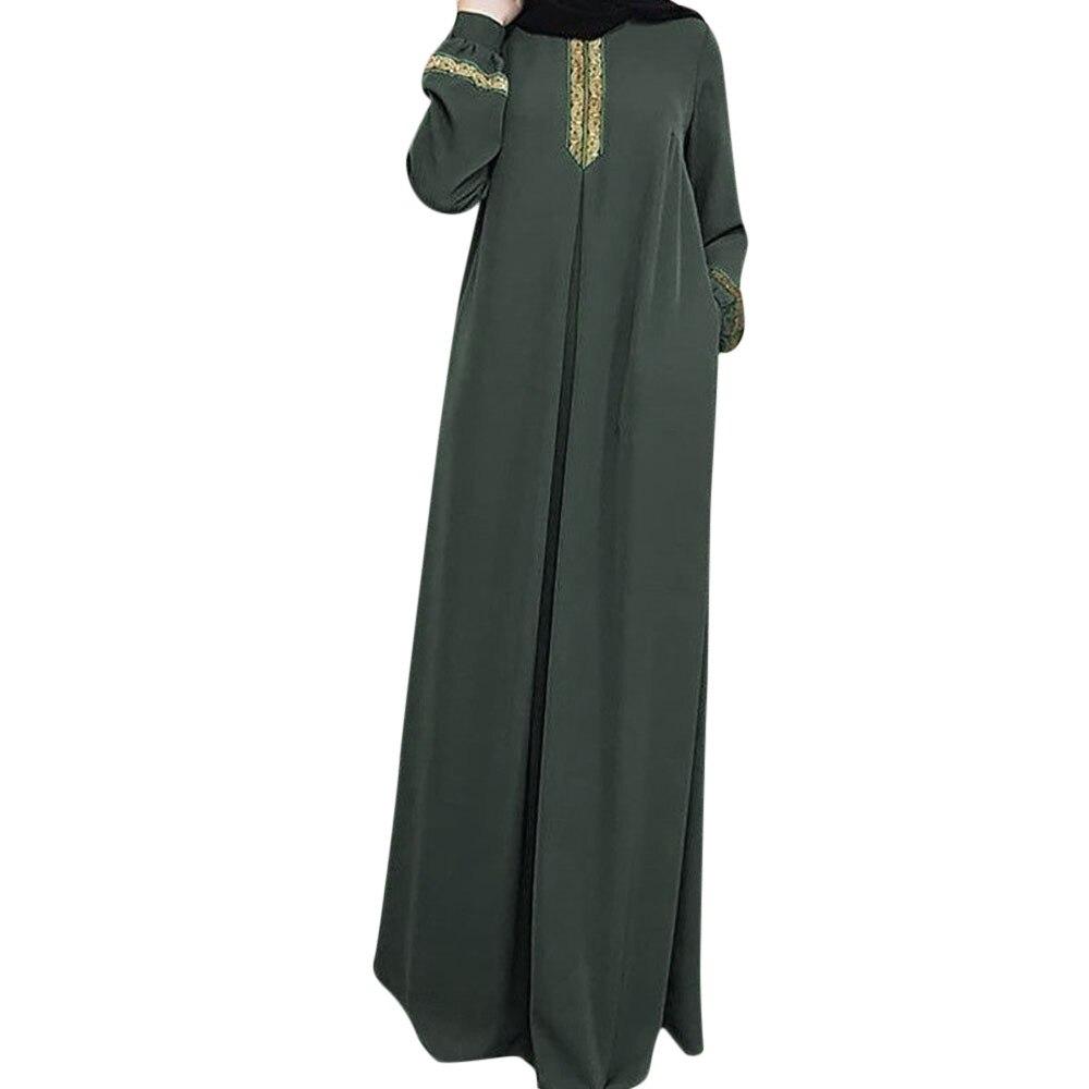 Ropa musulmana Abaya para mujeres musulmanas vestido modesto Jilbab imprimir Abaya islámica turco largo vestidos casuales Muslimah abaya dubai