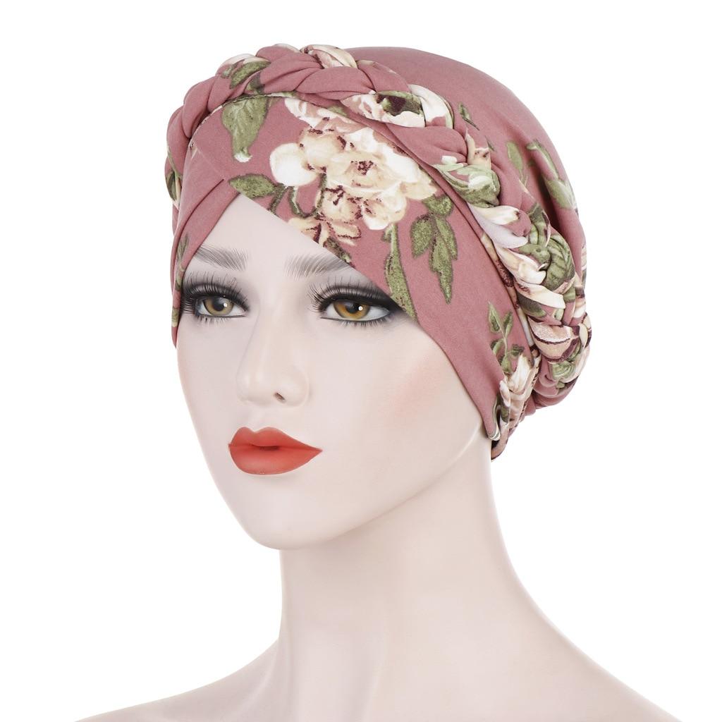 LARRIVED 2019 хит продаж головной убор шапка Африканский стиль мусульманские аксессуары для волос в виде тюрбана Модные женские с принтом плетеные банданы головные уборы