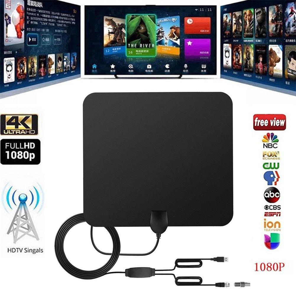 500 millas HDTV cubierta de la antena de TV Digital ATSC HD interior UHF/VHF/1080 p 4 K