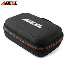 Ancel-étui adapté pour Scanner OBD2   Outil de Diagnostic universel de moteur de voiture, sac Portable à fermeture éclair en Nylon pour paquet Ancel AD310 AD410