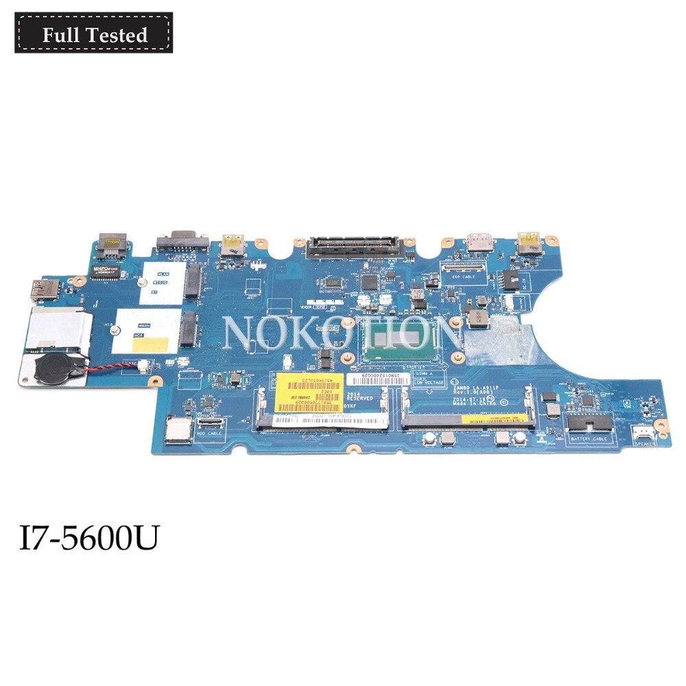 NOKOTION CN-0K9D27 0K9D27 K9D27 اللوحة المحمول لديل خط العرض 15 E5550 ZAM80 LA-A911P I7-5600U DDR3L اللوحة الرئيسية