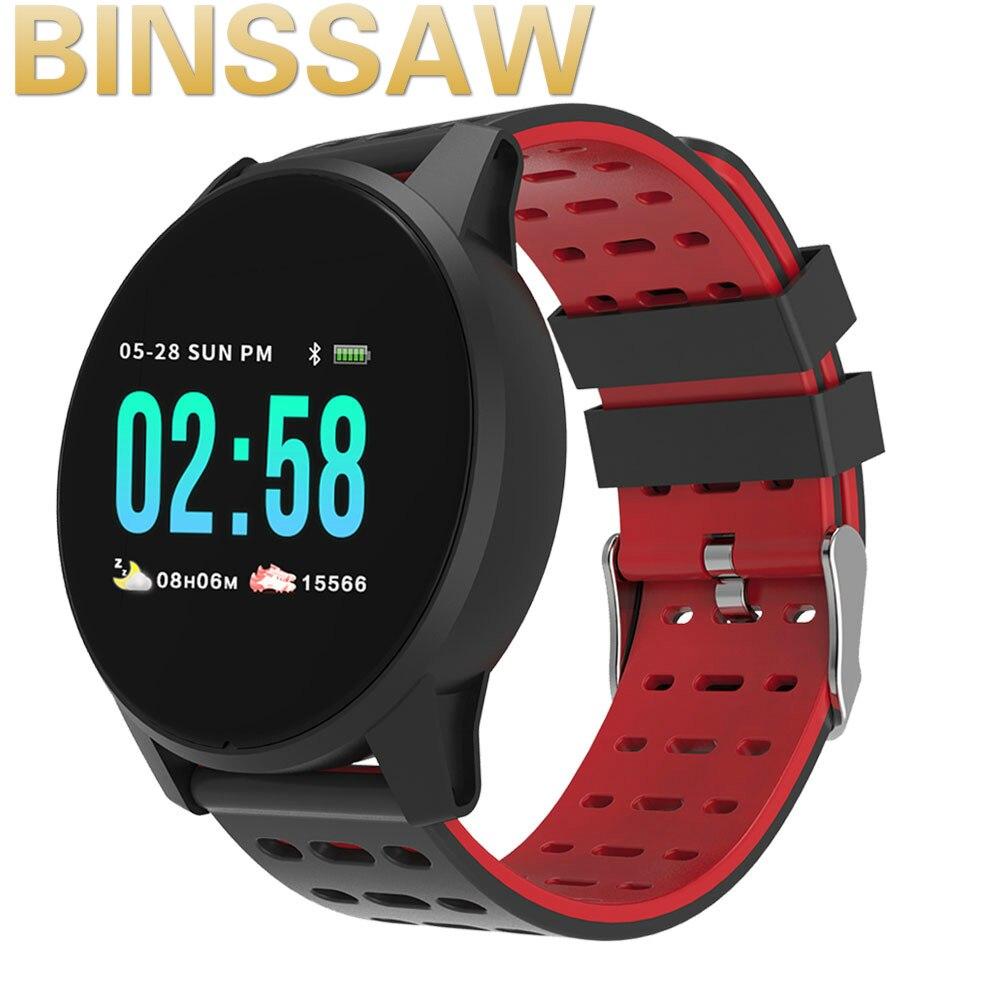 Reloj inteligente BINSSAW Wearfit para hombres, presión arterial, rastreador deportivo de ritmo cardíaco, podómetro, hombre, smartwatch deportivo para Android IOS