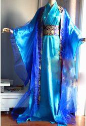 2 versões playboy desastre azul lindo masculino traje hanfu wanku cos o 2nd príncipe lan yuan cauda longa cosplay hanfu