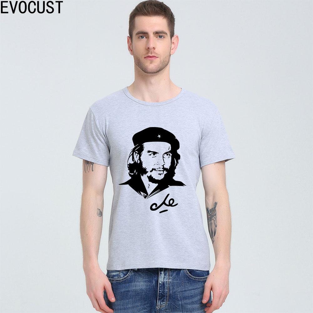 Che Guevara che de la Revolución playera Charcoal superior de Lycra de algodón de los hombres T camisa
