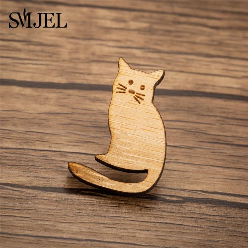 SMJEL lindo broche de gato apilado de dibujos animados para mujer insignia para ropa broches de iconos Pins insignias niños regalo Idea Pin grabado