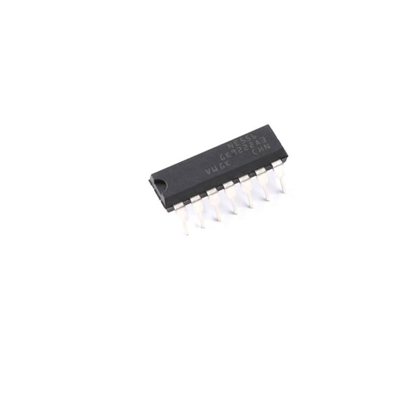 50 unids/lote DIP NE556 temporizador de doble canal