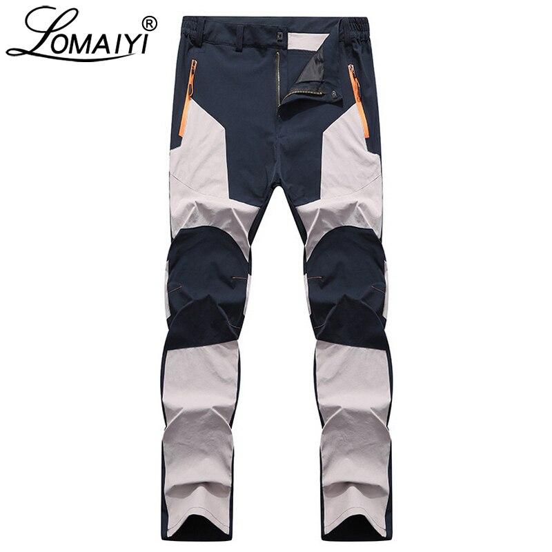 Мужские брюки-стрейч LOMAIYI, повседневные водонепроницаемые спортивные штаны на весну/осень, мужские брюки, мужские облегающие рабочие брюки ...