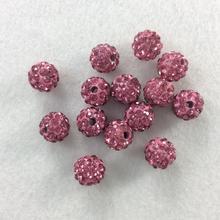 30 sztuk 8mm różowy kolor, tworzenia biżuterii koralik koraliki, Disco piłki, bransoletka shamballa, shamballa wisiorki, betonowa kryształ