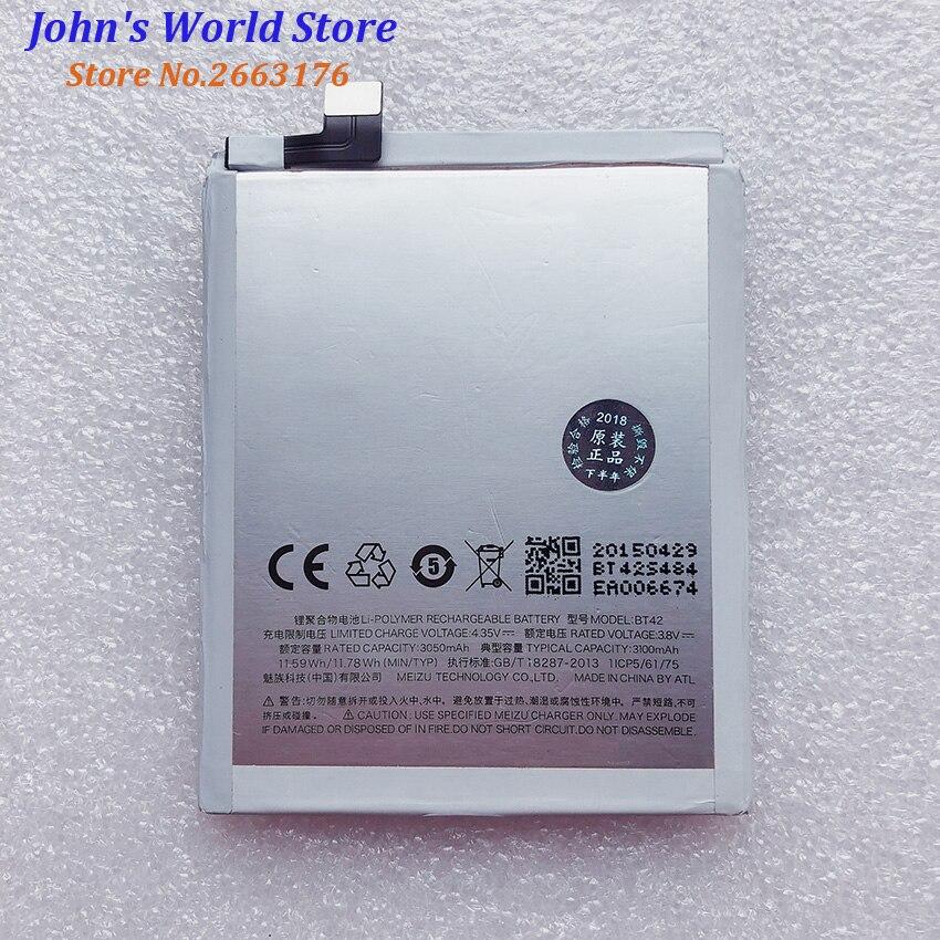 100% nueva batería BT42 3100mAh batería para MEIZU M1 Note BT-42 teléfono...