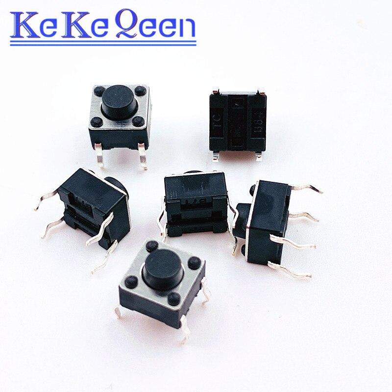 10 UDS-100 Uds 6*6*5MM 6X6X5MM DIP-4 4P interruptores de botón táctil interruptores Micro interruptor
