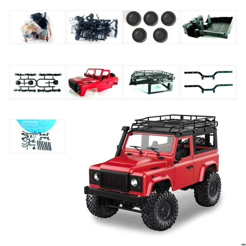 1/12 RC Rock Crawler D90 2.4G 4WD Car Remote Control Truck Toys Unassembled Kit Defender