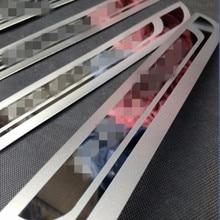 Für Peugeot 5008 308 2008 3008 307 206 2010-2017 Auto Tür-Schwellen-verschleiss-Platte Schutz Aufkleber Willkommen Pedal schneidet Styling Zubehör