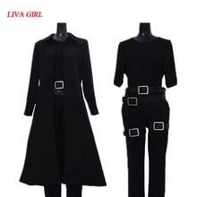 2019 Matrix néo Cosplay Costume noir Trench manteau ensemble complet