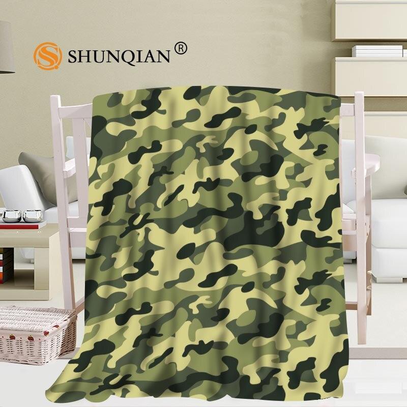 كامو خلفية بطانية لينة لتقوم بها بنفسك أريكة سرير رمي بطانية طفل الكبار بطانية دافئة مخصصة 56x80Inch50X60Inch40X50Inch