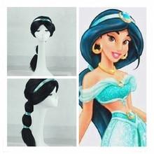 Filles jasmin perruque Costumes enfants robe Aladdin lampe Cosplay enfants princesse fantaisie habiller fête Costume ensembles Halloween