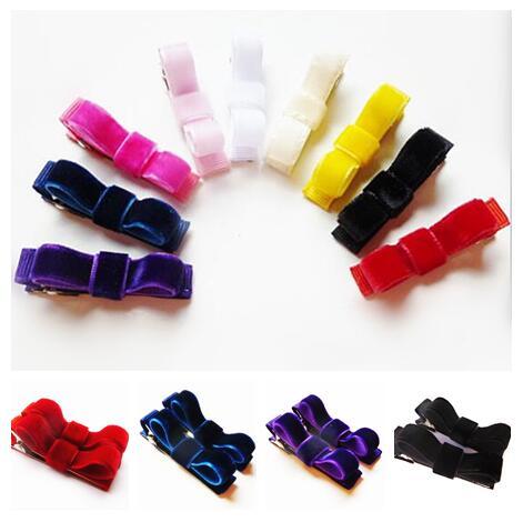 مجموعة مشابك شعر مخملية حمراء صغيرة ، فيونكة شعر ، مزيج ألوان ، شحن مجاني ، 800 قطعة