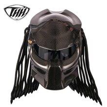 Шлем мотоциклетный из углеродного волокна, в горошек