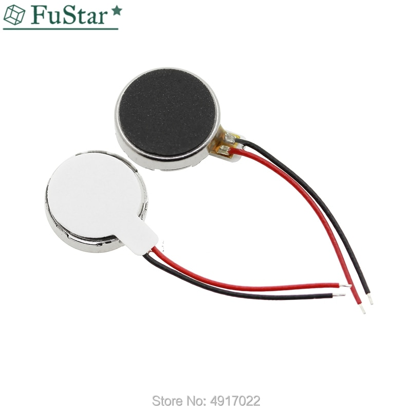 10 pcs 1027 Motor de Vibração Plano Button-tipo Moteur 10*2.7 MM Para O Telefone Móvel Tablet Aparelhos Domésticos motores de vibração