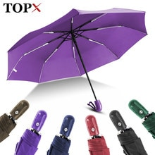Fully Automatic Umbrella 3Folding Rain Women For Men Strong Windproof Parasol Small Convenient Travel Outdoor Quality Umbrella