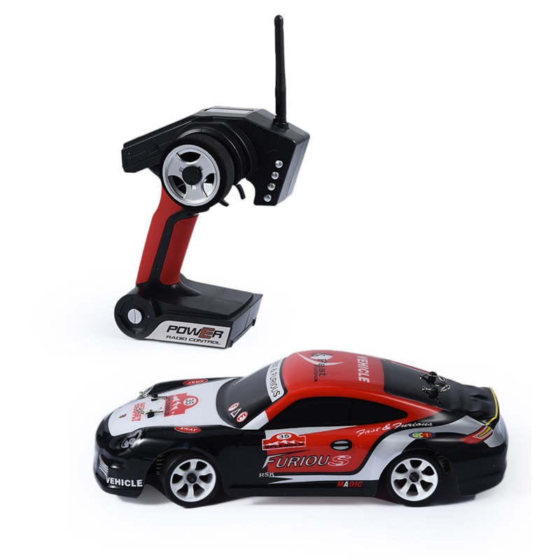 K969 Super RC coche de carreras 4WD 2,4 GHz Drift juguetes de Control remoto 128 Alta Velocidad 30 km/h todoterreno electrónico