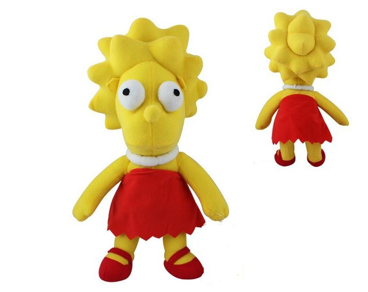 Muñecos de felpa Lisa De Los Simpsons, muñecos para niños de 34CM, una pieza