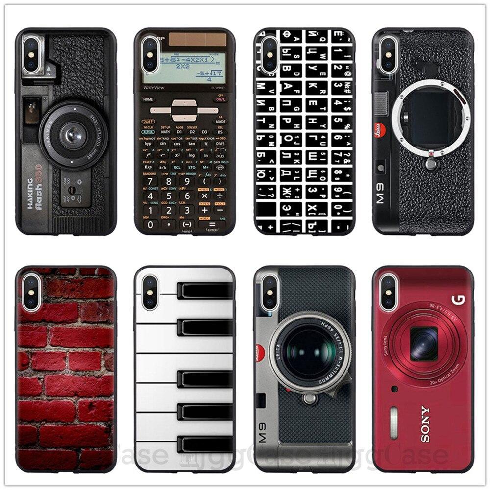 Ретро Камера кассета ленты калькулятор клавиатура мягкий чехол для телефона Fundas для iPhone 6 6S Plus 7 7Plus 5 5S SE 8 8Plus X XR XS MAX Coque для iPhone 11 Pro Max чехлы