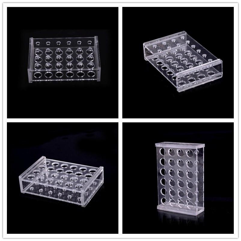 Пластиковые 24 отверстия прозрачные центробежные пробирки 1,5 мл держатель для пробирки + 10 шт пробирки чистящие щетки школьное лабораторное оборудование
