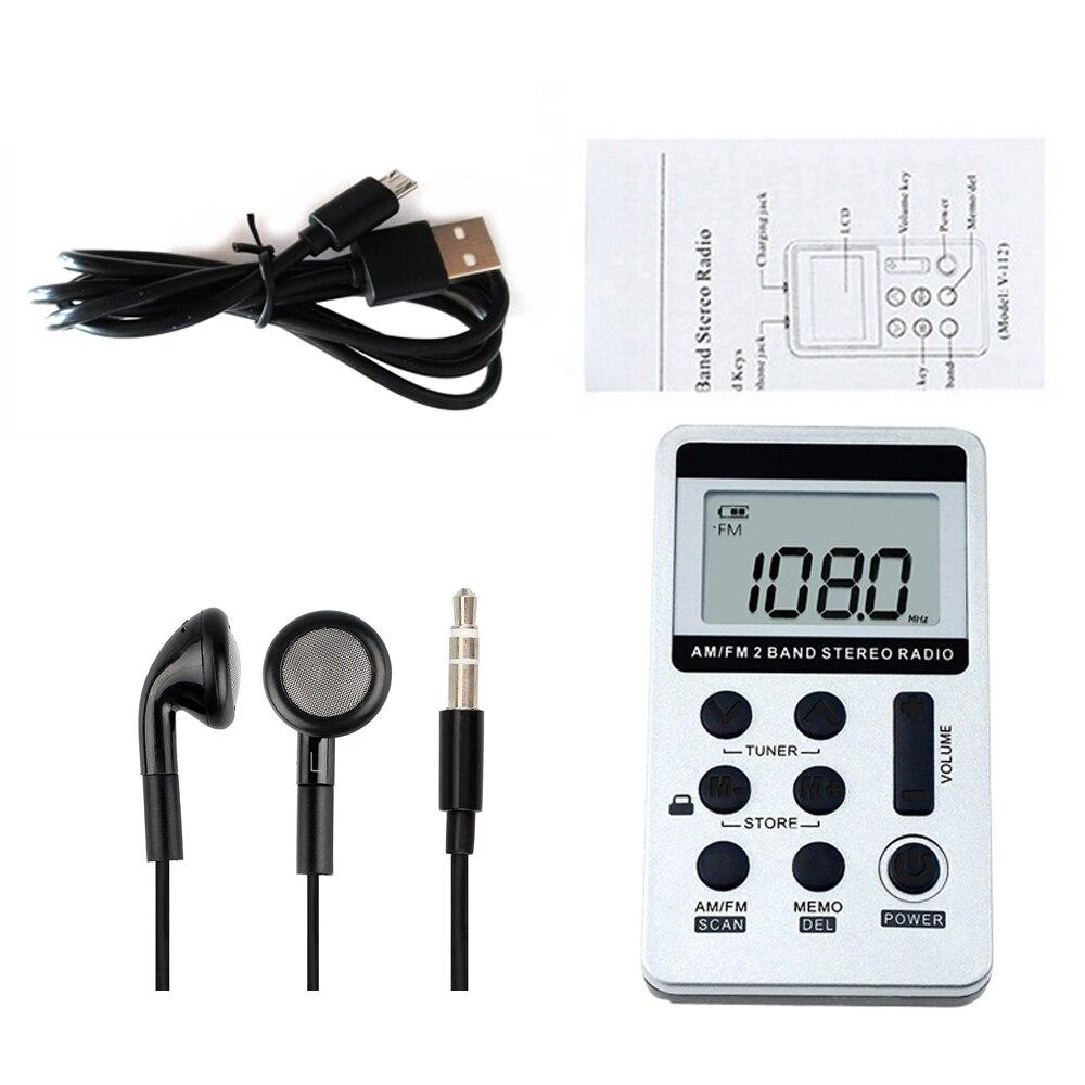 HanRongDa HRD 103 AM FM цифровое радио 2 диапазона стерео приемник портативное карманное