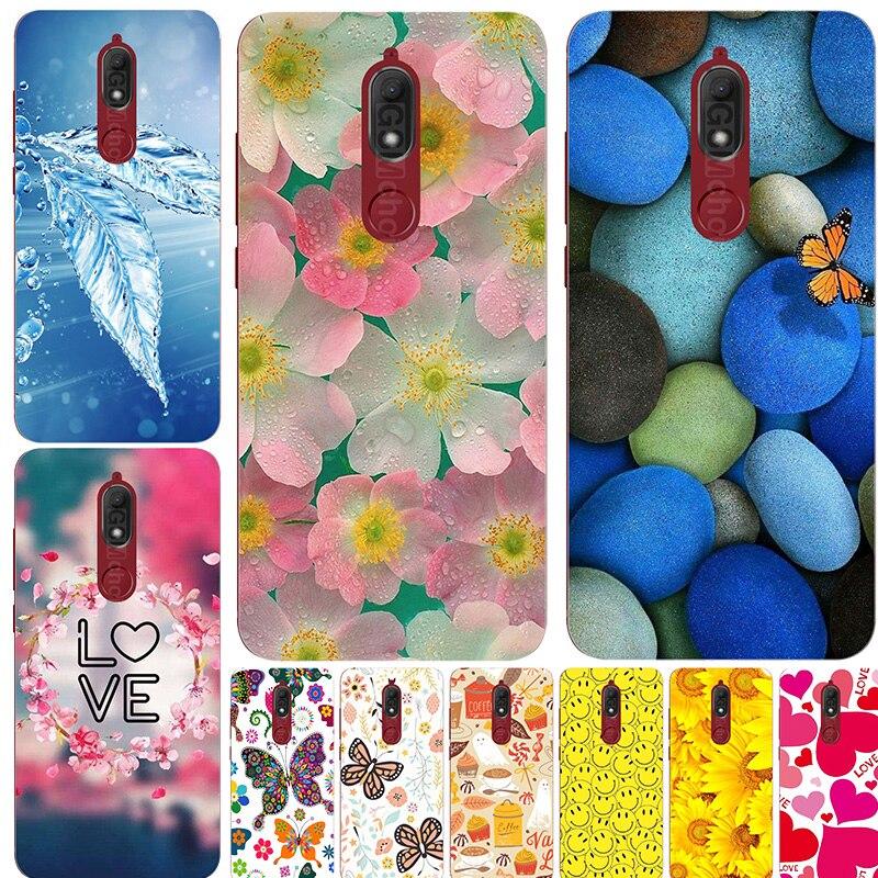 Мягкие силиконовые с рисунком Чехол для мобильного телефона для Wiko view prime 5,7