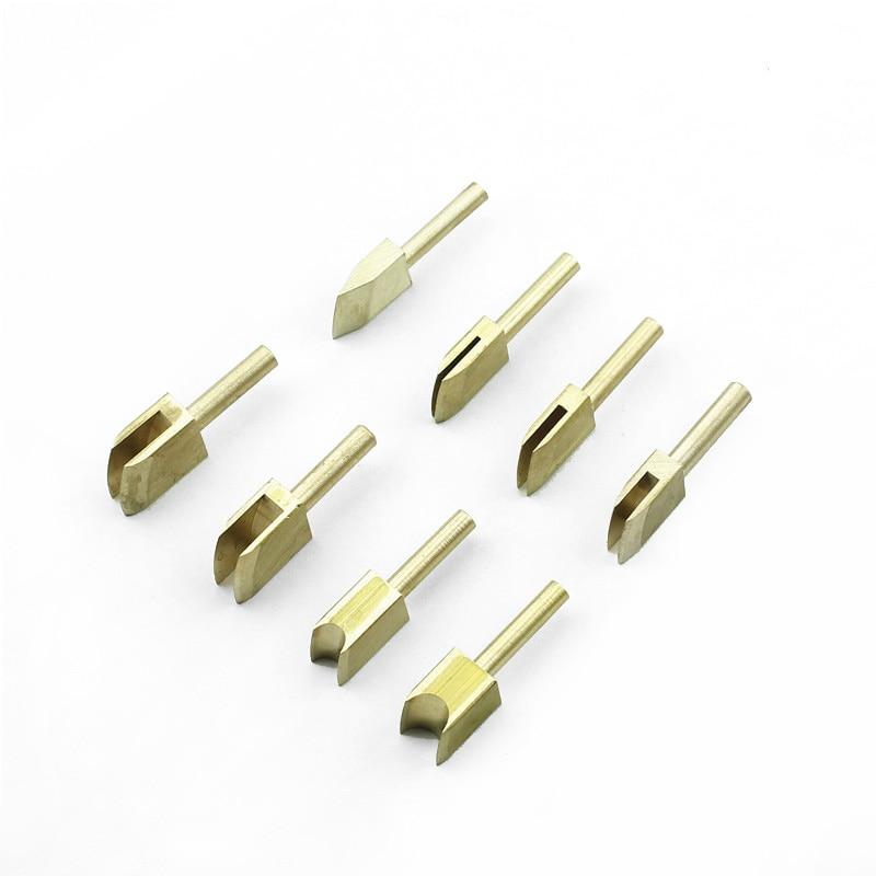 11 pces couro ferramenta térmica de vedação de pressão elétrica lado máquina ferramentas de vedação cabeça plug-in conjunto de cabeça de ferro elétrico