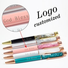 1pc nowe złote długopisy z folii metalowe długopisy biurowe prezenty urodzinowe długopisy grawerowane nazwa prywatne laserowe Logo na zamówienie długopis