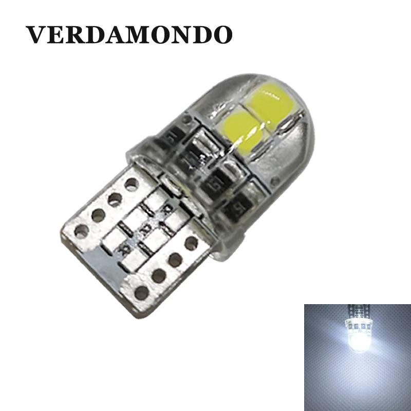 Acessories do carro w5w 147 t10 194 não polar 4 3030 smd lâmpadas led auto luzes da placa de licença tronco lâmpada de silicone branco escudo 12 v